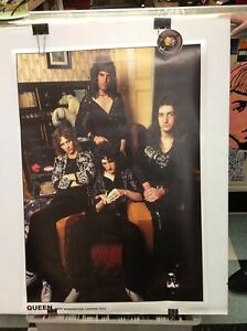 Queen-Band-West-Kensington-London-1974-36-034-x-24-034-Poster-Piranha-Records