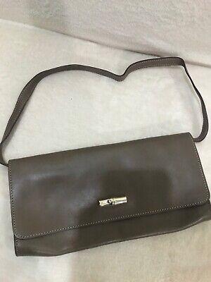 Longchamp Roseau Heritage Box Clutch Shoulder Leather Bag | eBay