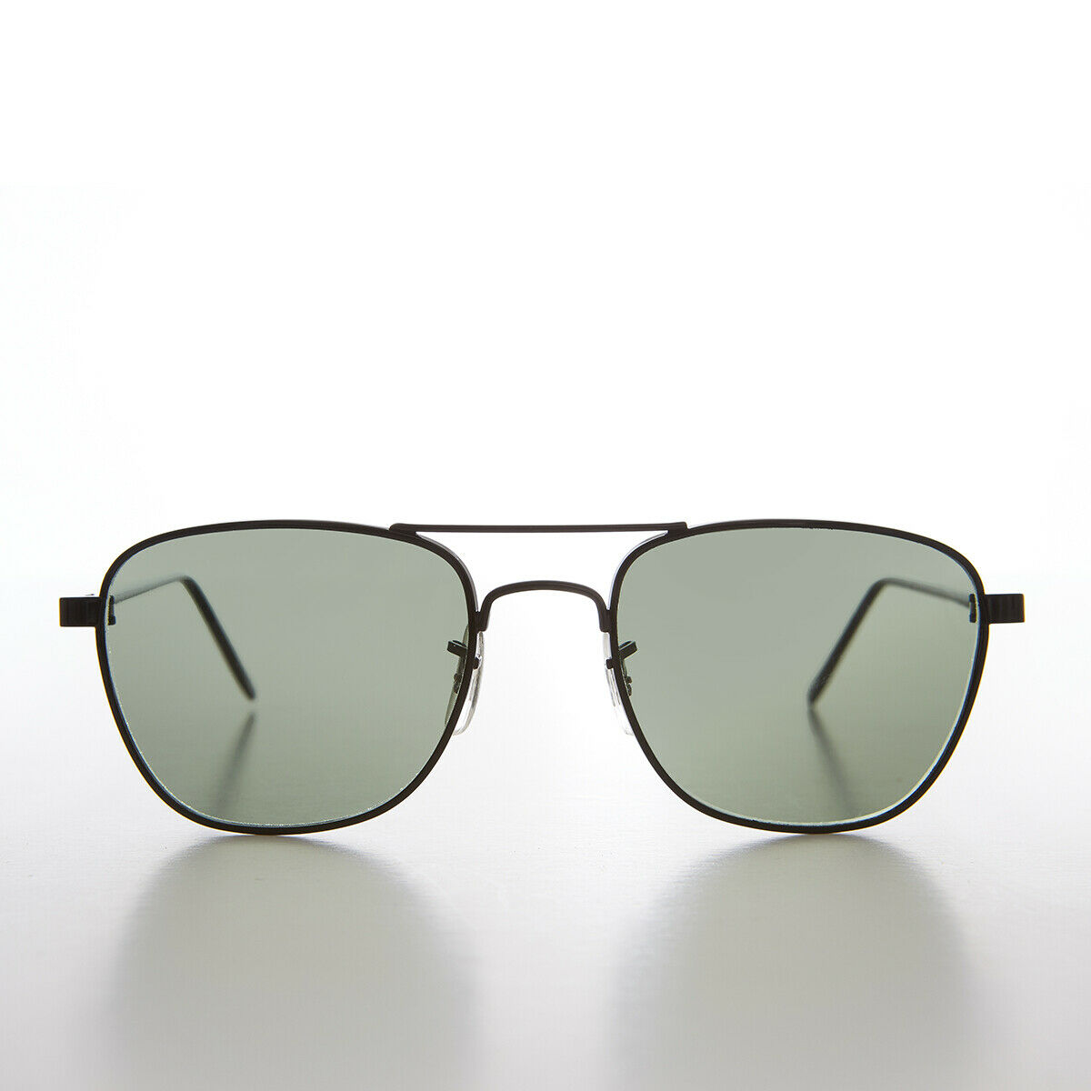 Black Metal Aviator with Glass Lens - Griffin