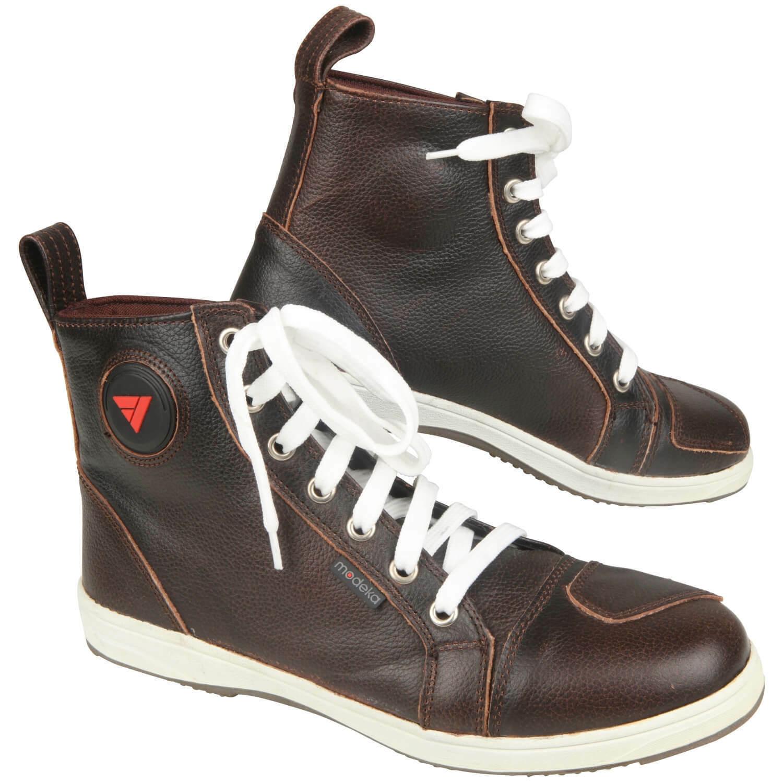 Modeka Lane Men's Motorcycle Boots Sneaker Leather - Braun