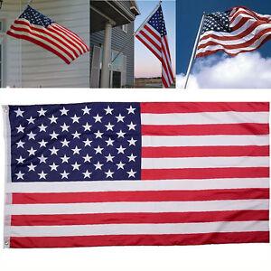 3-x5-Polyester-US-U-S-FLAG-USA-American-Stars-Stripes-United-States-Grommets