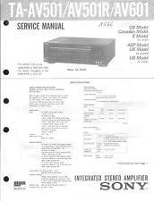 Sony Original Service Manual für TA-AV501/IR/601