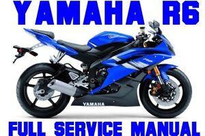 2006 2007 2008 2009 yamaha yzf r6 r6 yzfr600 service repair shop rh ebay com 2006 yamaha r6 owners manual 2006 yamaha r6 service manual pdf