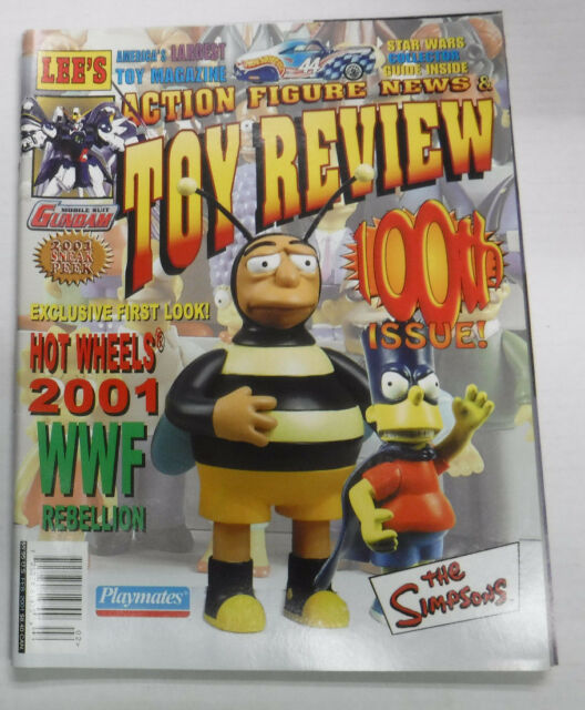 Toy Review Magazine The Simpsons Gundam WWF February 2001 100th Issue 082115R