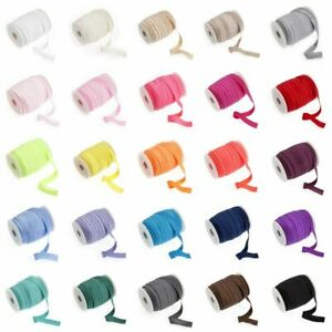 Fold-Over-Elastic-16mm-wide-27-Colours-Multibuy-Savings-amp-Free-Postage