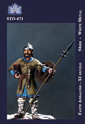 54mm METAL KIT LA FORTEZZA SCALE MODEL STO-0671 FANTE ANDALUSO XI SEC