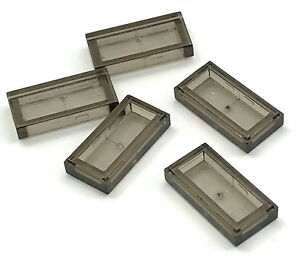Lego-Lot-of-5-New-Trans-Black-Tile-1-x-2-with-Groove-Transparent-Parts-Pieces