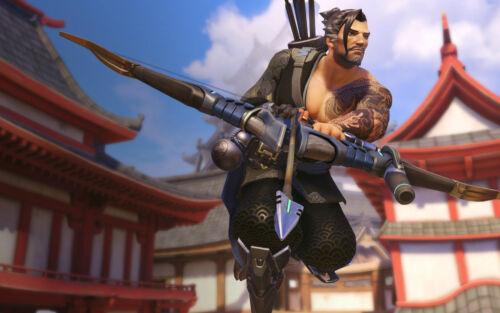 Poster A3 Overwatch Hanzo Videogame Videojuego Cartel Decor Impresion 01