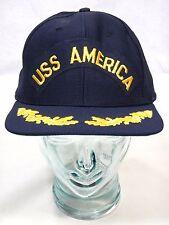 USS America Trucker Hat Snapback US Navy New Era Medium Large