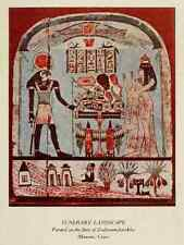 A4 Photo Ancient Art in Egypt 1912 Funerary landscape Print Poster
