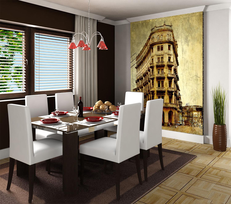 3D Building 715 Wallpaper Mural Paper Wall Print Wallpaper Murals UK Lemon