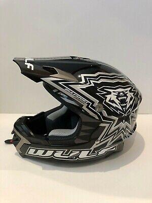 Wulfsport Libre X Helmet Black Adult Motocross Moto X Enduro Helmet - Sz Medium