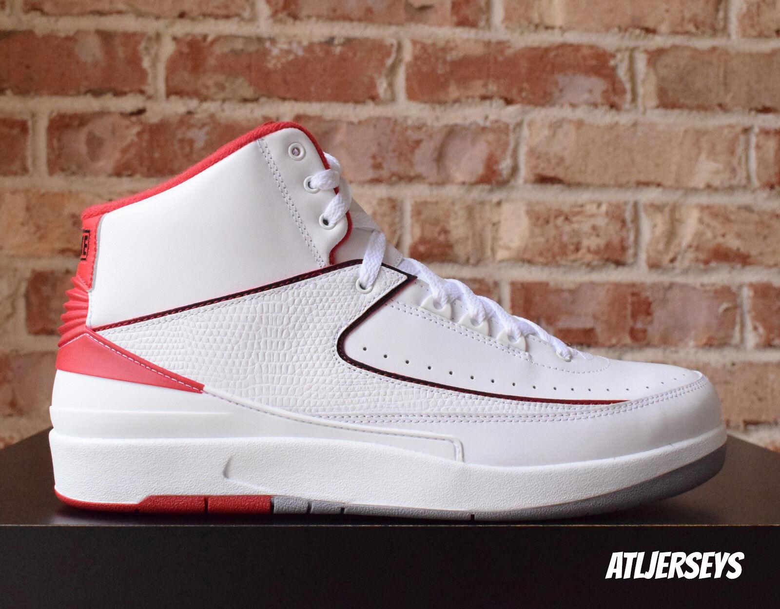 Nike Air Jordan 2 Varsity II Retro White Black Varsity 2 Red Grey 385475-102 Size 8 69d96e