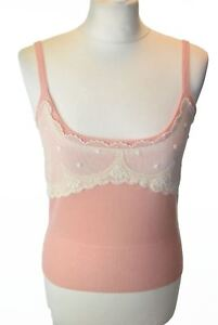 Blumarine Uk Detail 12 8 40 Knit Top Pink With Us Lace Eu rxCrw4qU