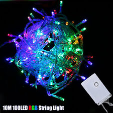 Christmas Fairy String Light10M 100LED Outdoor Garden Xmas Party Lamp Colorful