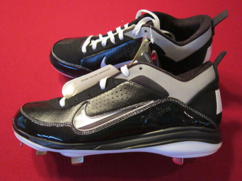NEW Nike Air Show Elite 2 Metal Baseball Cleats Men/'s Size 8 Black//White 414986