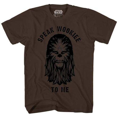 Speak Wookie to Me Chewbacca Star Wars Chewie Tee Adult Men's Graphic T-Shirt