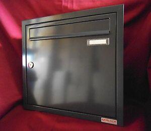 unterputz briefkasten mauer einbau 1 teilig tiefe 100 rahmen farbauswahl uph120. Black Bedroom Furniture Sets. Home Design Ideas