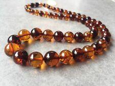 Collier En Ambre Marron 100% Véritable 19,84 g. Amber Baltic Necklace
