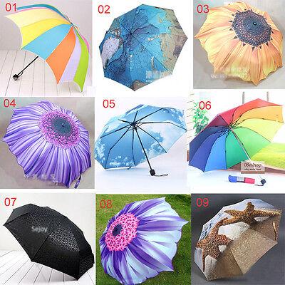 Brand New women's umbrella 9 style sun rain umbrella Ladies folding parasol