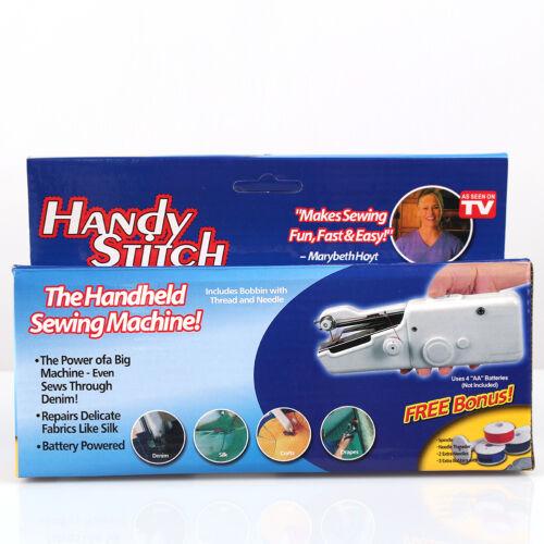 Handheld Sewing Machine Mini Home Travel Desk Portable Sew Quick Stitch Clothes