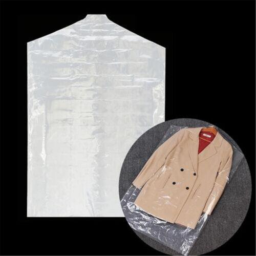 5Pcs Translucent Plastic Cover Garment Clothes Moistureproof Dust-proof Bag