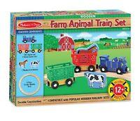 Melissa And Doug Farm Animal Train Set , New, Free Shipping on sale