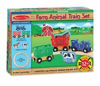 Melissa And Doug Farm Animal Train Set , New, Free Shipping on sale