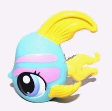 Littlest Pet Shop LPS Blue Angelfish Yellow Fin Pink Stripes Blue Dot Eyes #1721