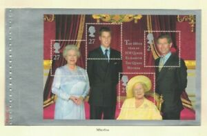 MGB33-Great-Britain-2000-Queen-Mother-Booklet-Pane-MUH