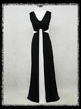 dress190 Schwarz Übergröße Hochzeit/Abend Brautjungfer AbschlussballKleid EUR 52