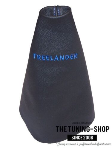 FITS 03-06 LAND ROVER FREELANDER MANUAL LEATHER SHIFT BOOT EMBROIDERY BLUE