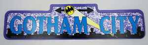 Batman-Gotham-City-Plastic-Street-Sign-DC-Comics-Vintage-1982-NOS-18-034-x-4-75-034