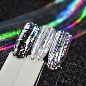 100-4cm-Nail-Art-Foil-Stripe-Line-Silver-Laser-Nail-Transfer-Sticker-for-UV-Gel