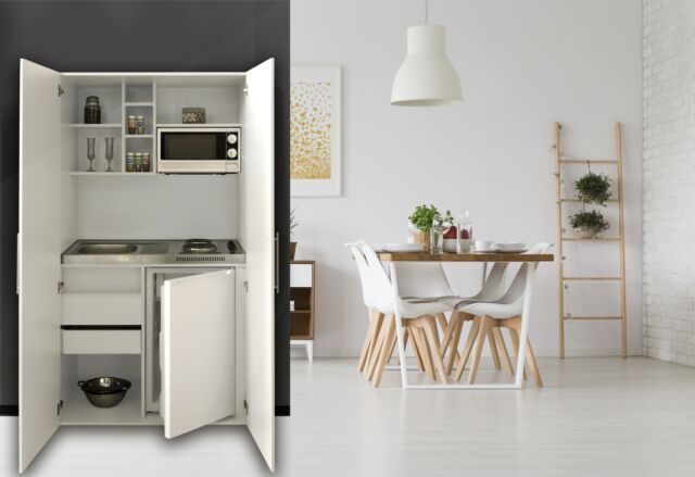 respekta Single Büro Pantry Küche Schrank Miniküche Schrankküche ...