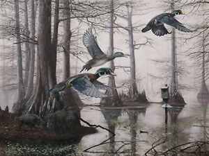 2016-Arkansas-Ducks-Unlimited-Sponsor-Print-Signed-AP-Cypress-Bayou-Neighbors