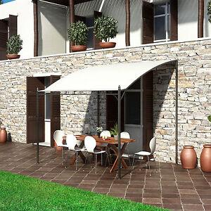 Gazebo pergola da esterno 3x2,5 per veranda giardino terrazza telo ...