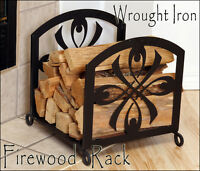 Firewood Rack Wrought Iron Weighs 16.5 Lbs & Ships Free & Same Business Day