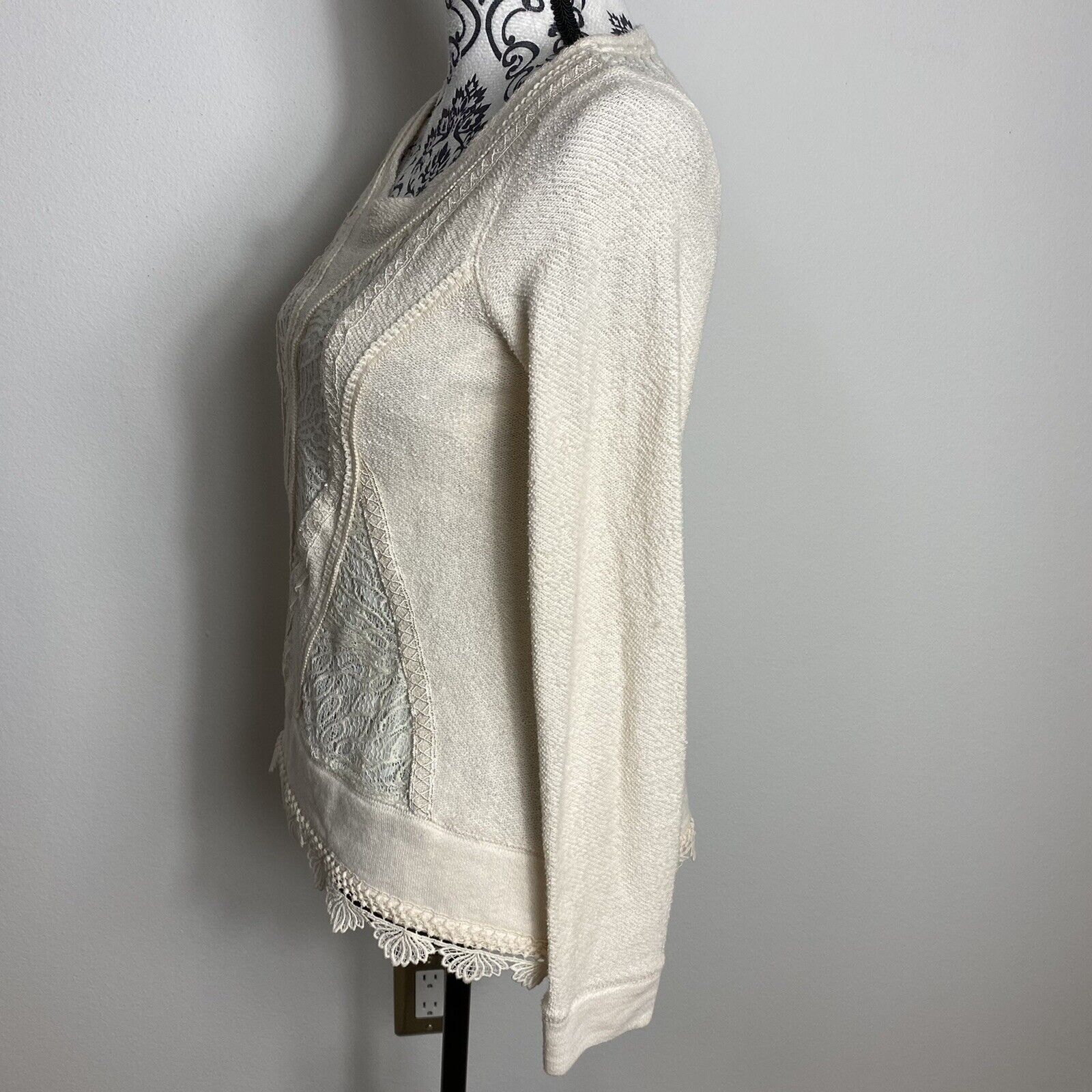 Angel Of The North Fairycore Lace Detail Sweater … - image 5