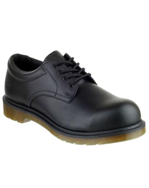 w magazynie nowe przyloty Nowe Produkty Dr Martens Airwair DM 245 SB Black Leather 4 Eyelet Safety Shoe Size Uk8