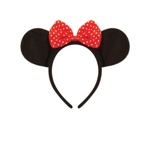 Minnie Mouse Ears Bow Headband Mickey Mouse Disney Fancy Dress Accessory