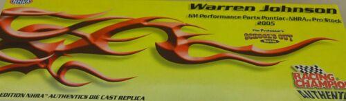 PARTS SCHOOLS OUT 1//24 DIECAST PRO STOCK 1//1,500 WARREN JOHNSON 2005 GM PERF