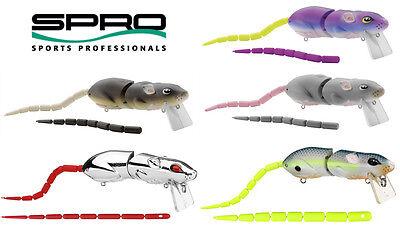 """Spro Bbz-1 Rat 50 10/"""" Head-Tail Creature Wake Topwater Bass Muskie Fishing Lure"""