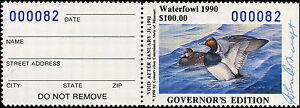 MISSOURI-12GH-1990-HAND-SIGNED-GOVERNOR-STAMP-ONLY-100-MADE-82-John-Ashcraft