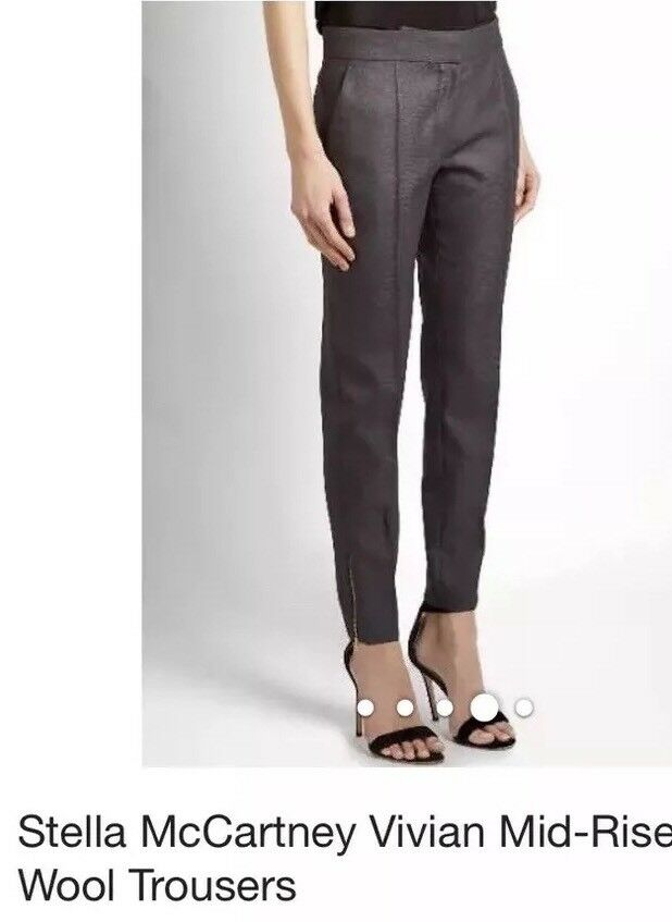 Stella McCartney NWT Vivian mid-rise Wool Skinny Dress Pants Trousers