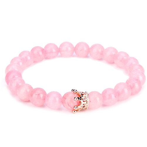 Luxe distance couple Bracelets Avec Cz COURONNE son roi sa reine perles bracelet