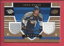 2008 Upper Deck Trilogy Honorary Swatches #HS-SW Shea Weber Nashville Predators