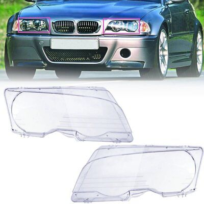 For BMW E46 2DR 99-03//01-06 M3 Headlight Covers Car Light Lens Left /& Right 2018