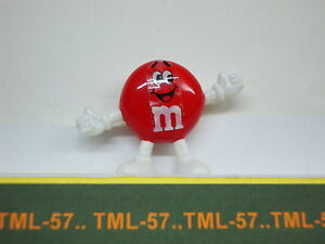 Figurine M&M's mars 1990 - Neuve sous blister - 4 x 6 cm - Rouge - Rare