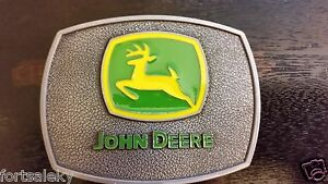 Antique-silver-color-John-Deere-Belt-Buckle-Farming-Construction